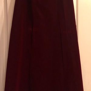 ALFRED SUNG Dresses - velvet formal A line skirt with strapless top